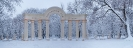 Парк в снегу