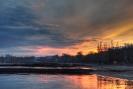 Закат над речкой